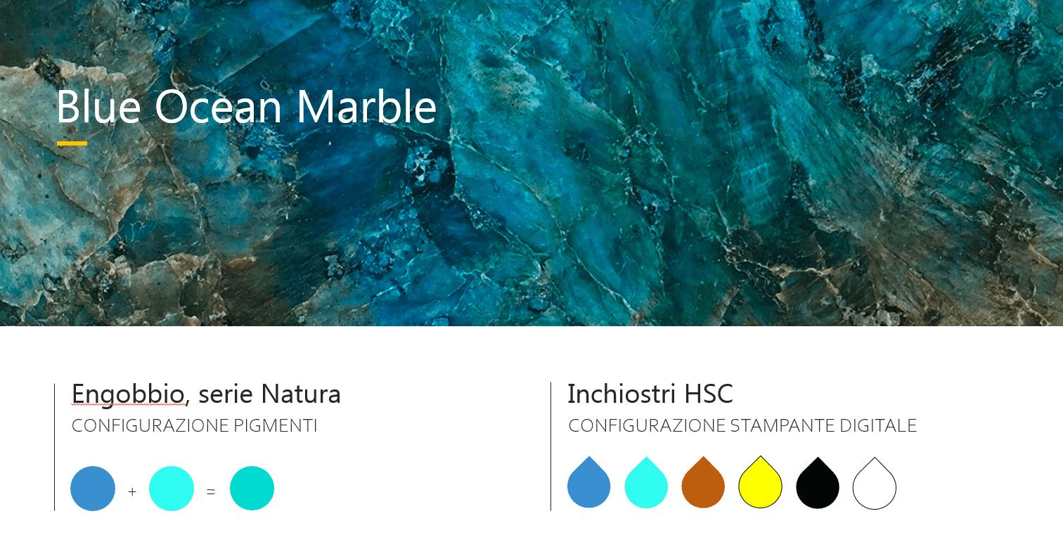 Blue ocean marble ceramic
